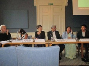 In the panel discussion on child trafficking at UK, London